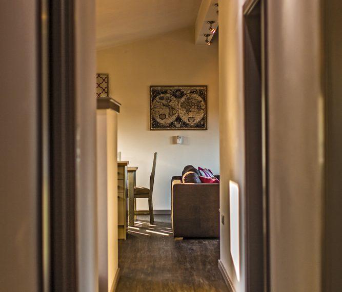 3 Bed cabin hallway