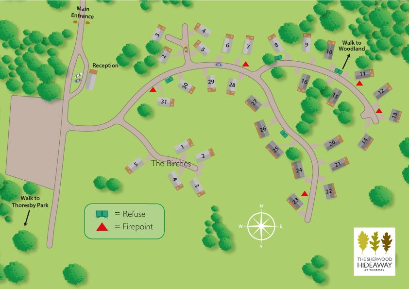 Sherwood hideaway Park Map